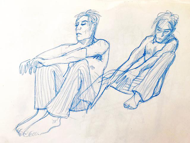 Sketch by Myfanwy Tristram